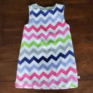 Lolly Wolly Doodle Chevron shift dress